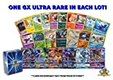 100 Assorted Pokemon Cards - 1 GX Ultra Rare Card, 4 Reverse Holographic Cards, 95 Commons/Uncommons - Authentic with No Duplication - Includes Golden Groundhog Deck Storage Box!