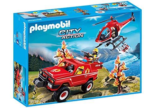 PLAYMOBIL Feuerwehr Waldbrandeinsatz Spielfiguren