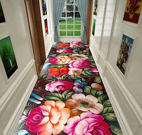 Equipment Stair Runner Carpet Soft Pile Hallway Runner Non Slip Kitchen Rugs Soft Carpet (Color : A, Size : 1 × 2m)