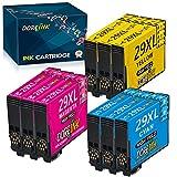 DOREINK 29XL - Cartuchos de tinta compatibles con Epson Expression Home XP-342 XP-352 XP-332 XP-445 XP-442 XP-245 XP-235 XP-452 XP-455 XP-432 XP-345 XP-257 (pack de 9 colores)
