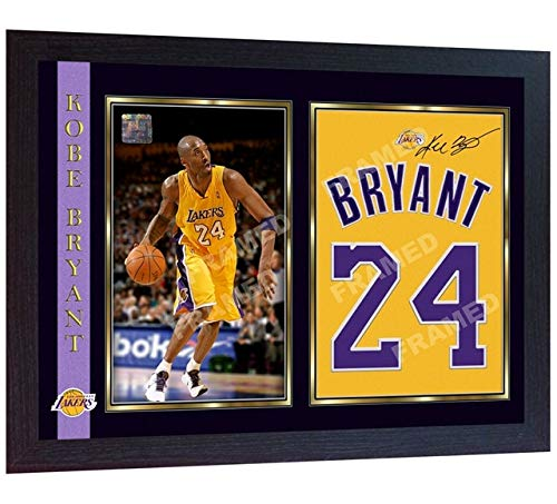 S&E DESING Kobe Bryant LA Lakers Signed Autograph Photo Print Picture NBA Basketball Framed