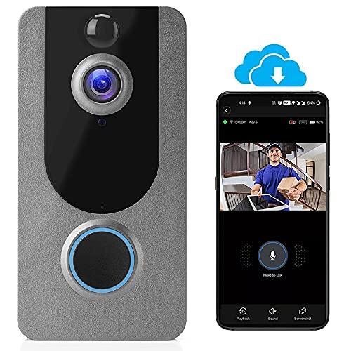 Wireless Video Doorbell Camera, WiFi Doorbell Camera IP65 Outdoor...