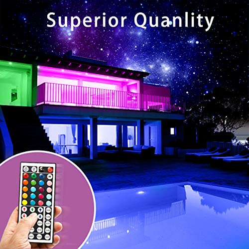 Phopollo Led Lights 65.6ft Long Led Strip Lights for Bedroom Color Changing Luces Led para Decoracion Habitacion RGB DIY Color Option with Power Supply and Remote 5