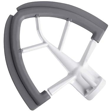 Flex Edge Beater for KitchenAid Tilt-Head Stand Mixer, 4.5-5 Quart Flat Beater Blade with Flexible Silicone Edges Bowl Scraper
