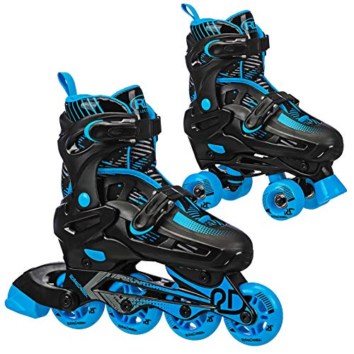 Falcon Boys Inline/Roller Combo Skate (Black/Blue, Small (12-2))