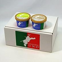 ジェラート専門店ジェラテリアUNO ジェラート6個詰め合わせ シチリア ブロンテ産ピスタチオとシチリアヘーゼルナッツ アイスクリーム 各3個