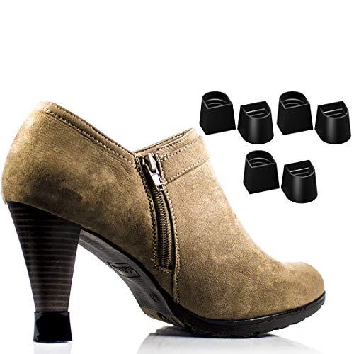 Schwarz 7 Größen 7 Paare Set Fersenschutz Ersatzspitze Kappen für High Heel-Schuhe und Stiletto - Anti-Rutsch und für Grass - (Satz von 7)
