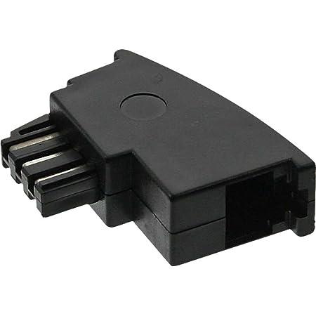 Tae F Adapter Inline Tae F Stecker Auf Rj11 Buchse Elektronik