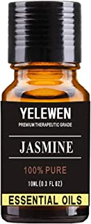 Yelewen Aromatherapy Jasmine Essential Oils 100% Pure Organic & Therapeutic Grade Scented Oils 10ml Perfect for Diffuser, ...