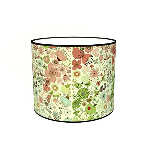 Abat-jours 7111301583826 Imprimé Potie Lampadaire, Tissus/PVC, Multicolore