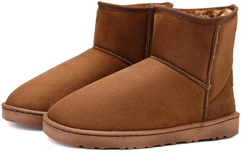 Männer Schuhe Herren Stiefeletten, Liebhaber Schneeschuhe Unisex Warm High-Top Freizeitschuhe Winter Baumwollschuhe Herrenmode Stiefel (Farbe   EIN, Größe   35)  | Ausgezeichnete Leistung