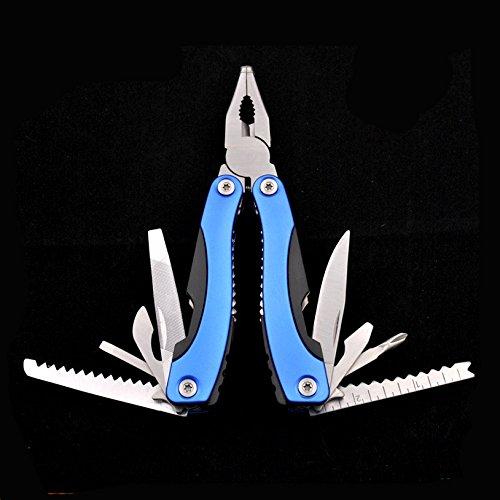 AUTOPkio Pinza multifunzione, strumenti multifunzione Accessori in acciaio inox Pinze multifunzionali Pinze cacciavite casa opener coltello seghettato campeggio all'aperto