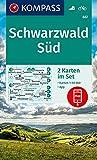 KOMPASS Wanderkarte Schwarzwald Süd: 2 Wanderkarten 1:50000 im Set inklusive Karte zur offline Verwendung in der KOMPASS-App. Fahrradfahren. (KOMPASS-Wanderkarten, Band 887)