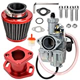 FVRITO VM22 Carburetor Carb Performance Intake Pipe Mainfold 38mm Air Filter Kit Adapt for Freight Predator 212cc GX200 6.5hp Engine 196cc CT200U KT196 Moto Mini Bike Race Go Kart