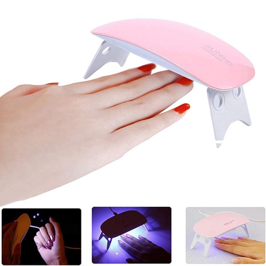 もつれ安らぎ苛性Cikoume LED & UV ネイルライト 全ジェル対応 ジェルネイル レジン用 ネイルドライヤー 手足両用 ミニ 硬化ジェルネイルライ [2段階タイマー設定](USB電源付き)