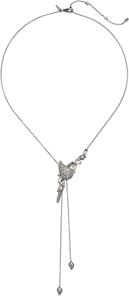 Crystal Encrusted Paisley Y-Necklace