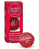 SAUBERKUGEL® für die Tasche   Rot   Wiederverwendbarer Taschenreiniger für Handtasche, Schulranzen & Rucksäcke   Nimmt Schmutz, Krümel & Flusen auf   Silikon- und PVC frei   Made in Germany (3,5 cm)