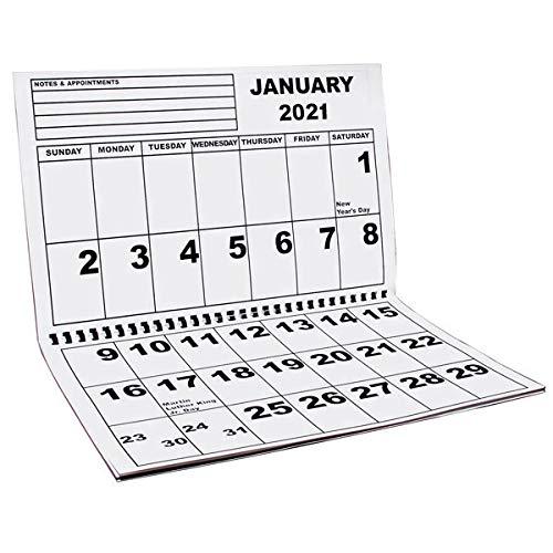 Jumbo Large Print Wall Calendar 2021 - Low Vision