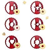 SUNSK Moldes para Galletas Horno Cortador de Galletas Infantiles Galletas Cortador Plastico Fondant moldes para Chuches Cookies Cortadores de Galletas de Pastelería Flor 6 Piezas