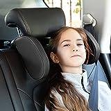 Reposacabezas Coche, Reposacabezas para Niños y Adultos, Almohada de Cuello de Coche Ajustable con Rotación de 360 °, Almohada para El Cuello con Barra Telescópica y Clips Deslizantes