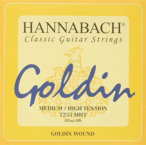 Hannabach Cuerdas Para Guitarra Clasica, Serie 725 Tension Media/Alta Goldin - Cuerda Suelta A5/La5
