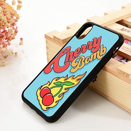 WGOUT para iPhone 5 5S 6 6S TPU Funda de Gel de sílicepara iPhone 7 Plus XX 11 12 Mini Pro MAX XRFundade Cuero para teléfono Cherry, para iPhone 8