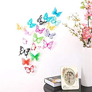 3D Colorful Butterfly Wall Stickers DIY Art Decor Crafts For Kids Bedroom Living Room