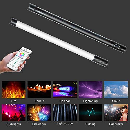 Yidoblo WY-RGB2 - Tubo de luz LED con 12 efectos de iluminación, 20 W, 68 cm x 4 cm, con bolsa de transporte (RGB LT-WY2)