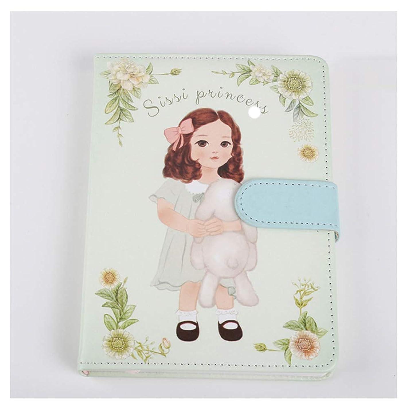 ノート,漫画の革磁気バックルノートブック36 Kなめらかなミニマリスト日記、贈り物として適して