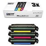 3x Eurotone Remanufactured Toner per HP Colore LaserJet Enterprise M 552 553 wie CF361A-63A 508A Colore