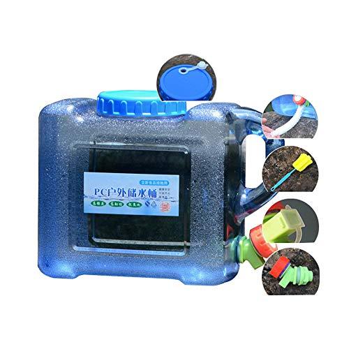 YXYXX PC Portátil Tanque De Agua, Con un Grifo, Se Utiliza para Acampar, Hacer Senderismo, Pescar, Escalar, Hacer Picnic, Hacer Barbacoas, Viajar al Aire Libre/azul / 8L