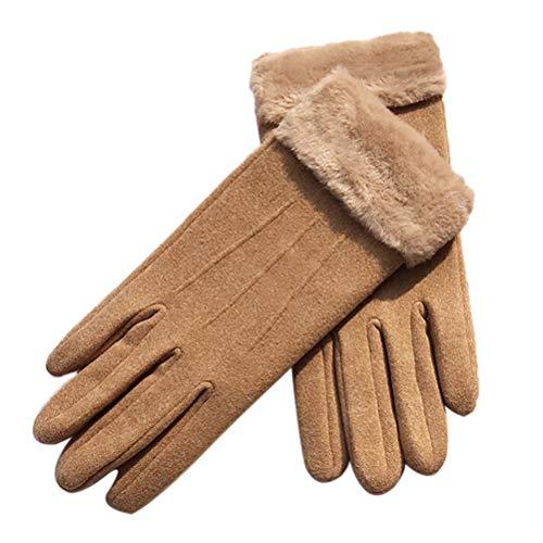 Dames winter touchscreen handschoenen winter touchscreen handschoenen voor vrouwen touchscreen warm gevoerde anti-slip gebreide SMS-handschoen