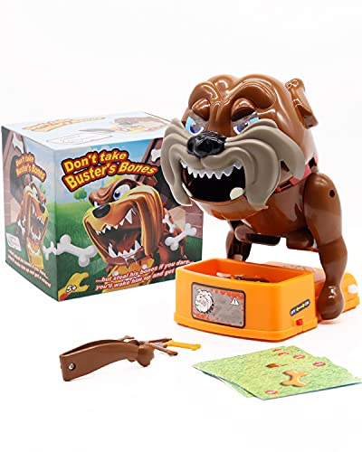 Don't Wake The Dog Toy Dog Games Flake Out Bad Dog Bones Cards Tricky Toy Prank Toy Dog Stealing Bones Biting Toys Dog Board Games Funny Electronic Pet Dog Toys Parent-Child Games