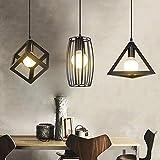 Lampadario Stile industriale americano camera da letto camera da letto caffetteria tre lunga combinazione creativa ferro artigianale lampada da soffitto lampada decorativa nera