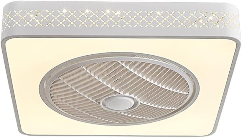 Ventiladores para el Techo con Lámpara Ventilador de techo con luz, pantalla hueca de artesanía 22 '' Fin de techo moderno fino con luz, control remoto LED Cambio de color de atenuación, para cocina d