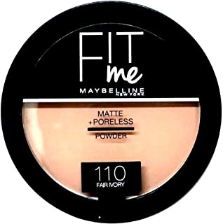 Maybelline New York Fit Me Matte and Poreless Powder, 110 Fair Ivory, 14g