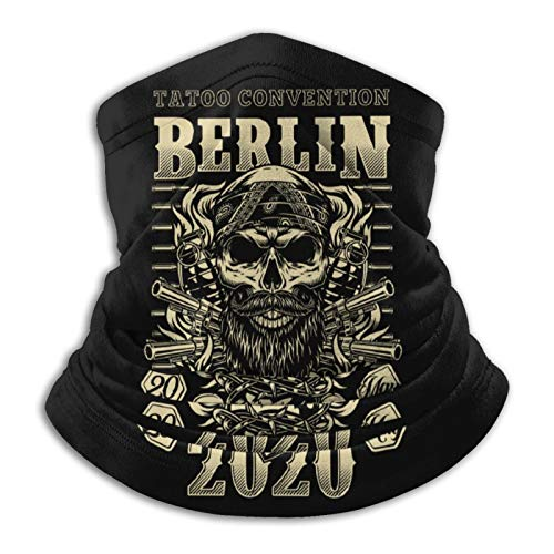 Tattoo Convention In Berlin Seamless Scarf Men'S And Women'S Washable Reusable Microfiber Neck Gaiter For Cycling Travel Outdoor