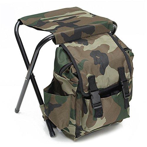 tyrrdtrd Sac à dos pliable portable pour extérieur, pratique pour le camping, la pêche