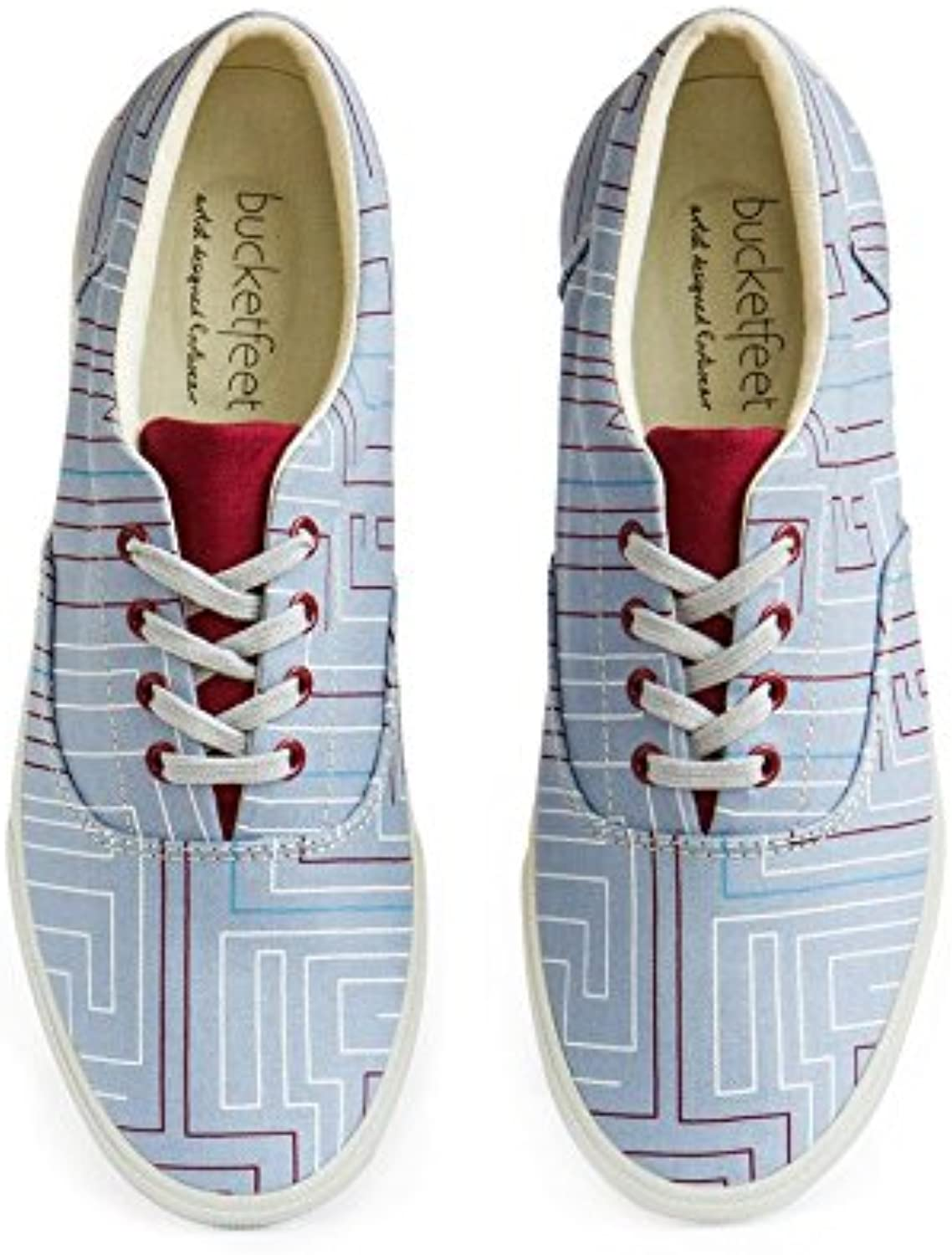 Bucketfeet Labyrinth Canvas Lace-Up WNS 6