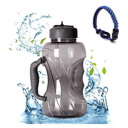 XHDD Botella Deportiva,para Niños y Adultos,Cantimplora con Tapa y asa,sin BPA entusiastas del Fitness y al Aire última intervensión,1.5L