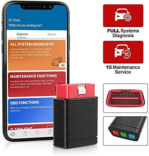 thinkcar Pro OBD2 Scanner Bluetooth, Scanner du système, Outil Diagnostic Voiture, NIV Automatique, Lecteur de Code Lumineux de Moteur de vérification, Offre 5 Voiture ou Logiciel de réinitialisation
