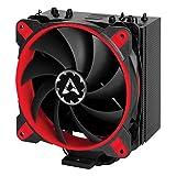 Arctic Freezer 33 eSports One – Dissipatore di processore semi-passivo con ventola Bionix da PWM 120 mm, Dissipatore per CPU fino una potenza di raffreddamento di 320 Watt (Rosso)