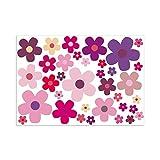 easydruck24de 'Pegatinas set flores flores, lila, número de referencia coche 242| tonos: Morado, Rosa, Rosa | para Auto, Art-Land, Mofa, Roller, Laptop, cocina, baño, etc.