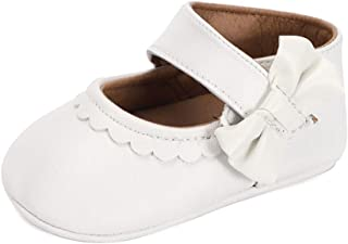 LACOFIA Ballerine Bébé Chaussure Premier Pas pour Bébé Fille Chaussures Mary Jane Antidérapant