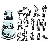 WSERE 22 Stück Fondant Ausstechformen Familien Thema Silhouette Ausstecher für Kuchen Kekse Kuchen Dekorieren Werkzeuge Familie Ausstechformen für Valentinstag Jahrestag Hochzeit Mottoparty Geburtstag