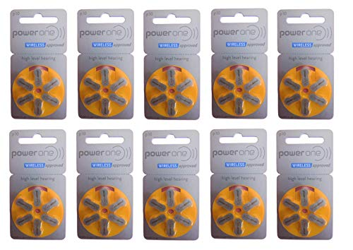 Power One No Mercury Hearing Aid Batteries P10 by Power One