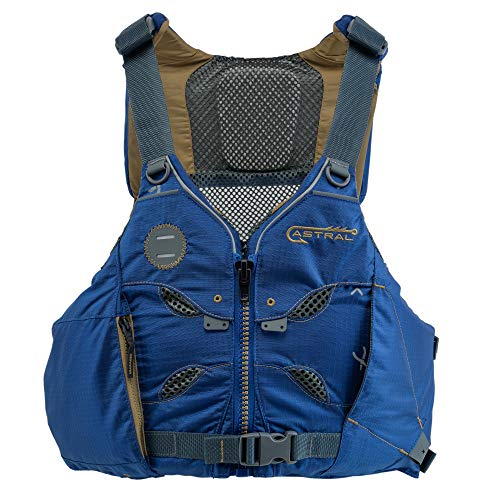 Astral, V-Eight Fisher Life Jacket PFD for Kayak Fishing, Recreation and Touring, Storm Navy, S/M