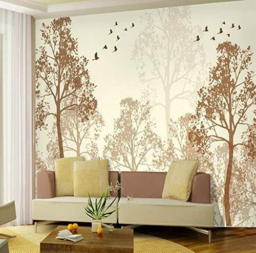 Fotoblitz Klassische Einfachheit trübe Schönheit Vogel Baum Kunst Tapeten Wandbild Tapetenmalerei für Wohnzimmer 3D Tapete @ 250 * 175