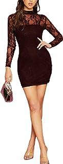 Black Dress Square Neck Hound's-tooth Bodycon Dress