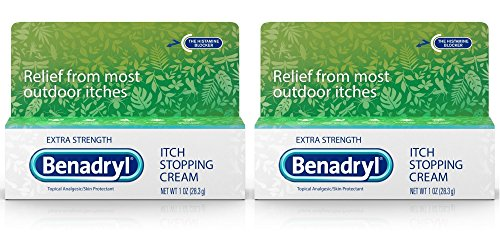 Benadryl Extra Strength Anti Itch Cream 1 Oz Tube Pack of 2